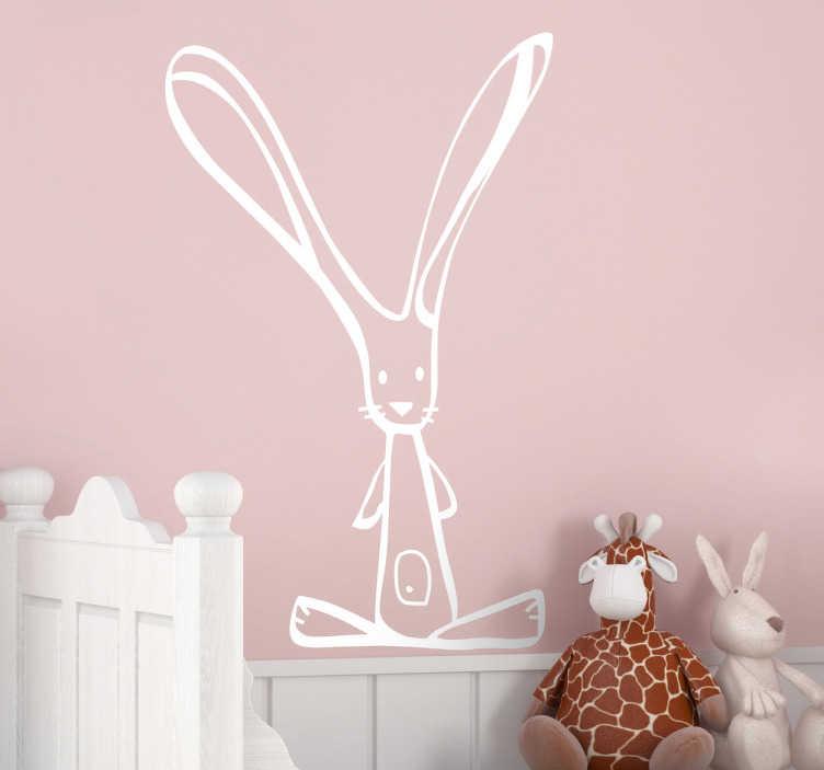 TenStickers. Wandtattoo Kinderzimmer Hässchen. Gestalten Sie die Wand im Kinderzimmer mit diesem niedlichen Wandtattoo eines kleinen Hässchens.