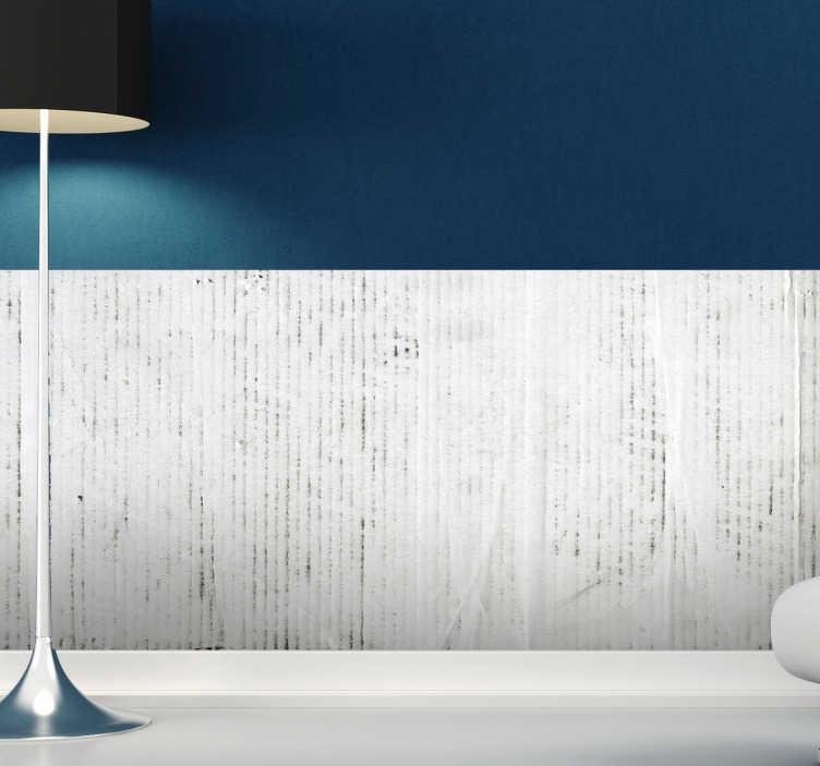TenStickers. Naklejka biało-szara dekoracja. Naklejka dekoracyjna przedstawiająca fototapetę w kolorze biało-szarym.