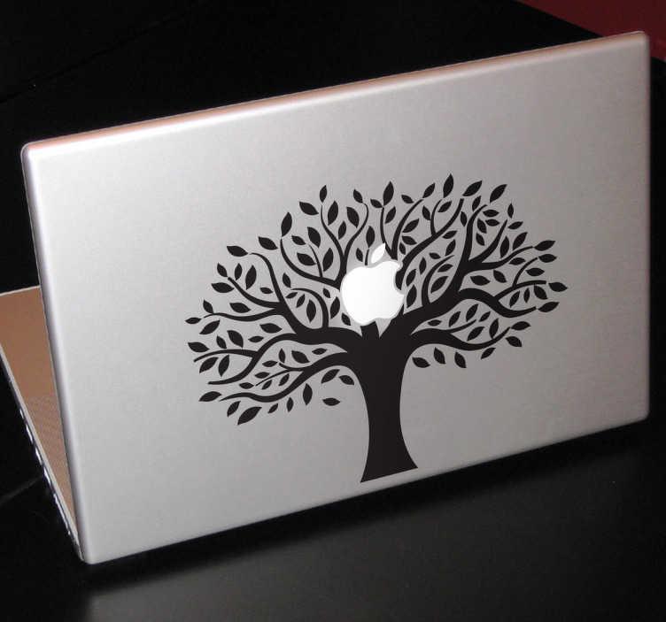TenStickers. Autocolante para Macbook árvore de maça. Decore o seu computador com este surpreendente autocolante para portátil com uma imagem de uma árvore de maça com ramos.