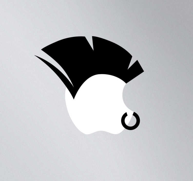 TenStickers. Punk Crest MacBook Sticker. A creative and unique design to give your Mac a new look! This design from our MacBook stickers will make your device distinguishable from the rest!