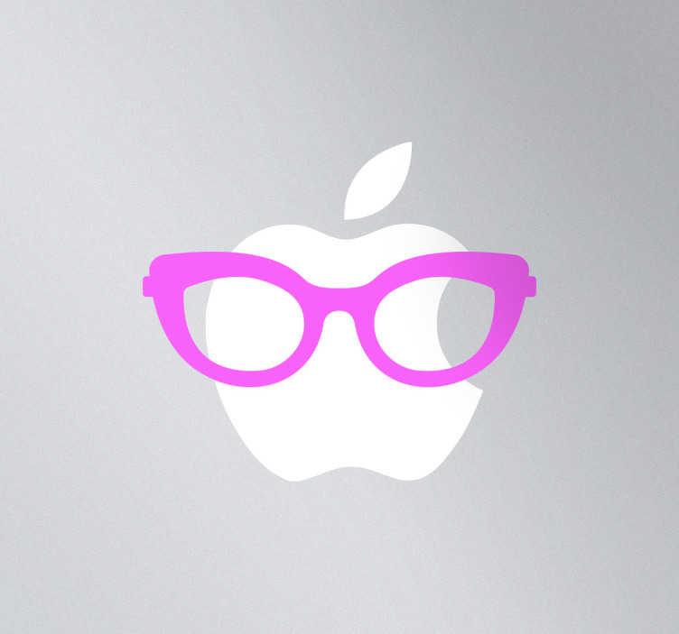 TenStickers. Naklejka dekoracyjna na laptop damskie okulary. Naklejka dekoracyjna na laptop, która przedstawia damskie różowe okulary, którymi możesz w oryginalny sposób udekorować swój laptop.