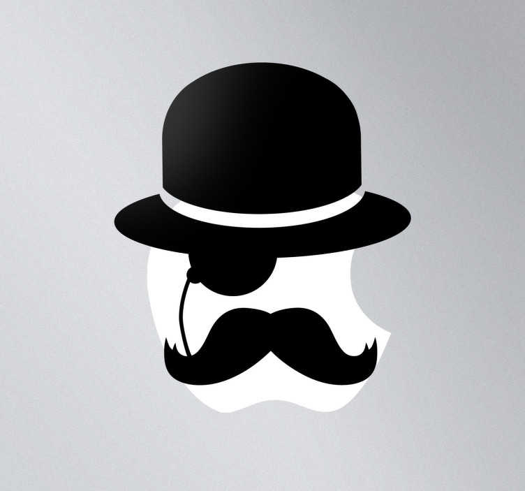 TenStickers. Gentleman Icon Mac Sticker. This laptop sticker is a fun and original idea to decorate your laptop or MacBook. A design from our MacBook stickers collection