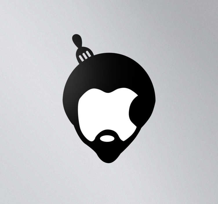 TenStickers. Sticker MAC apple logo Afro. Een leuke decoratie sticker voor de versiering van het Apple logo, onderscheid zo je Macbook, Ipad of ander Apple toestel van de rest.