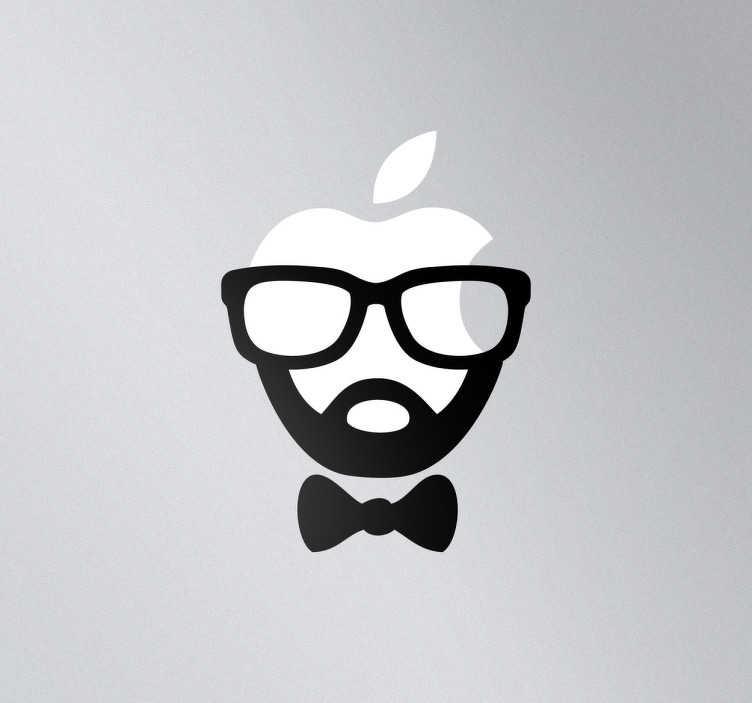 Vinilo para mac rostro hipster