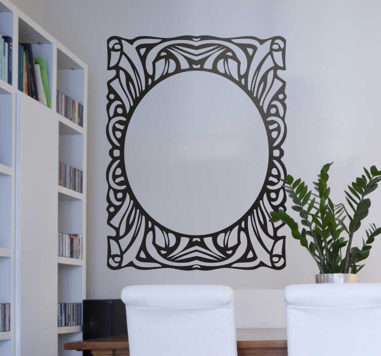 TenStickers. Frame Design Sticker. Decorative frame with a retro and vintage feel, to create an elegant and different atmosphere in your home.