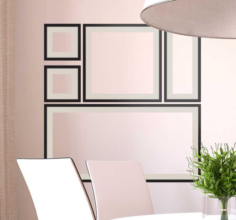sticker cadres p le m le tenstickers. Black Bedroom Furniture Sets. Home Design Ideas