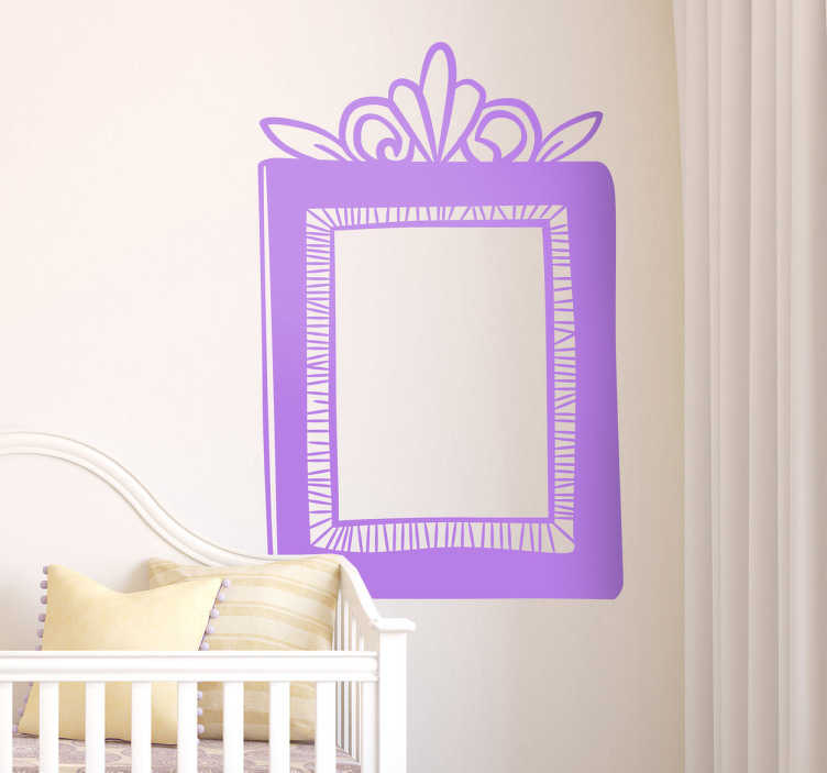 TenStickers. Decorative Frame Decal. Monochrome decorative frame sticker to decorate your home by picking a color from the wide range available.