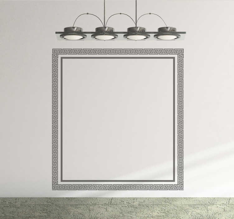 TenVinilo. Vinilo decorativo marco cuadrado griego. Vinilo decorativo de un marco cuadrado con un patrón griego para los más entusiastas del mundo clásico.
