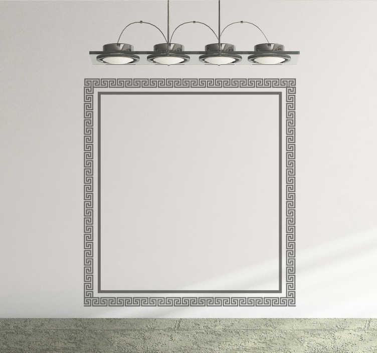 Vinilo decorativo marco cuadrado griego - TenVinilo