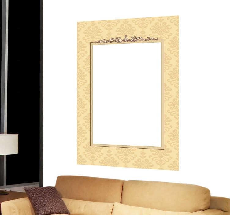 TenStickers. Sticker cornice stampa. Cornice adesiva in stile barocco ideale per l'esclusiva decorazione e personalizzazione delle spoglie pareti di casa.