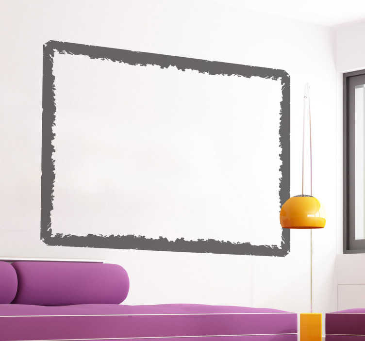 wandtattoo viereckiger bilderrahmen tenstickers. Black Bedroom Furniture Sets. Home Design Ideas