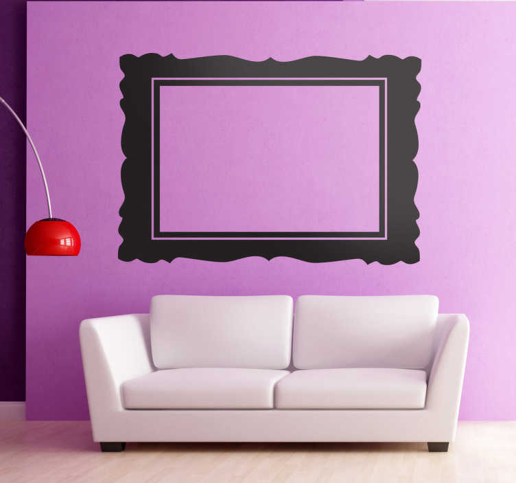 TenStickers. Horizontal Frame Decorative Sticker. Decorative sticker of the most recognisable molding frame in the world. A classic decorative frame.