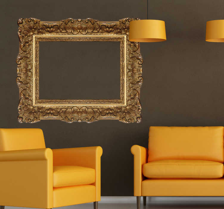 TenStickers. Renaissance Frame Sticker. Decorative renaissance frame wall sticker with a very elaborate and detailed molding that will give your home a classical look.