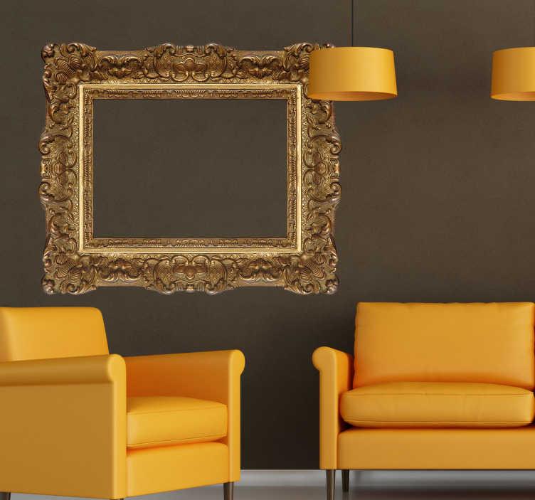 TenStickers. Renaissance Rahmen Aufkleber. Wenn Sie ein Fan von Barock Bilderrahmen sind, dann ist dieses Wandtattoo ideal für Sie.