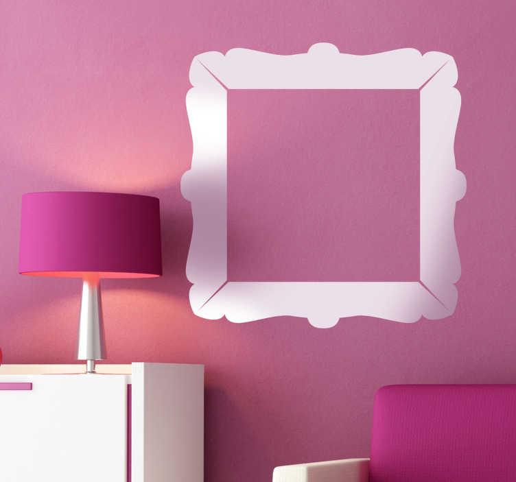 TenStickers. Quadrat Bilderrahmen Aufkleber. Mit diesem Bilderrahmen Wandtattoo können Sie einrahmen, was Sie möchten.
