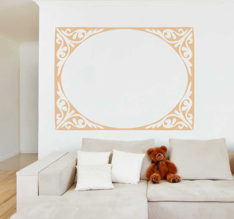 TenStickers. Modernist Elliptical Frame Wall Sticker. Wall Stickers- Classic and elegant elliptical frame feature. Decorate your home with a touch of colour. Available in various sizes and in 50 colours.