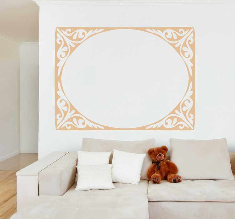 TenStickers. Naklejka eliptyczna rama. Naklejka dekoracyjna przedstawiająca eliptyczną, klasyczną ramę, która może imitować lustro, obraz czy też portret.