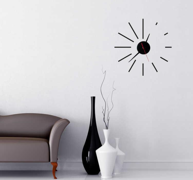 Vinilo decorativo reloj espiral tenvinilo - Reloj vinilo decorativo ...