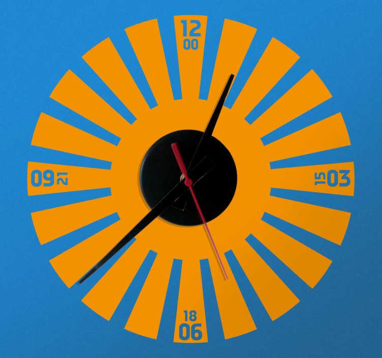 TENSTICKERS. 光線時計ステッカー. あなたの家を装飾し、そのシンプルでエレガントな雰囲気を維持するための素晴らしい時計デカール。あなたの家に楽しさとユニークさのタッチを追加します