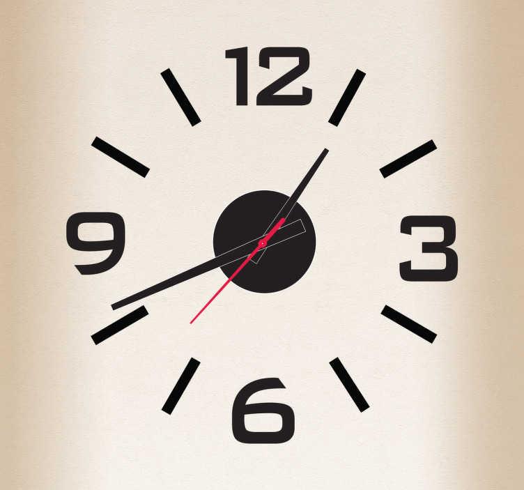 Sticker horloge simple
