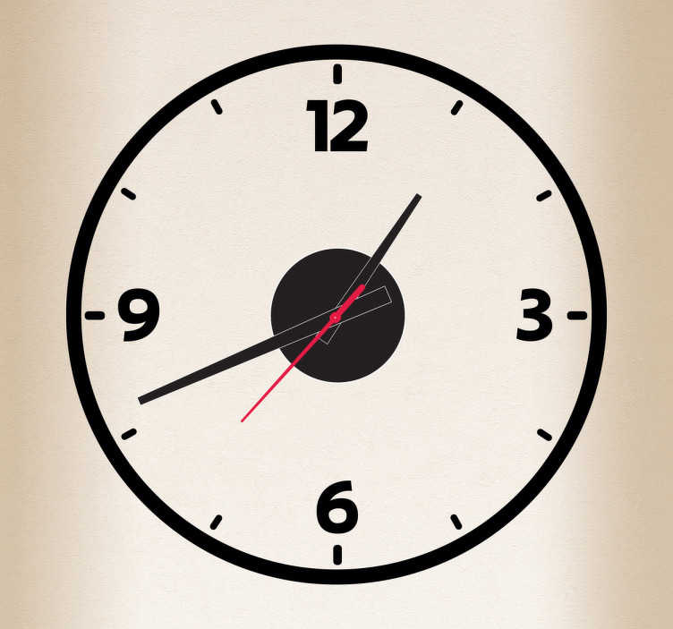 Sticker horloge contour