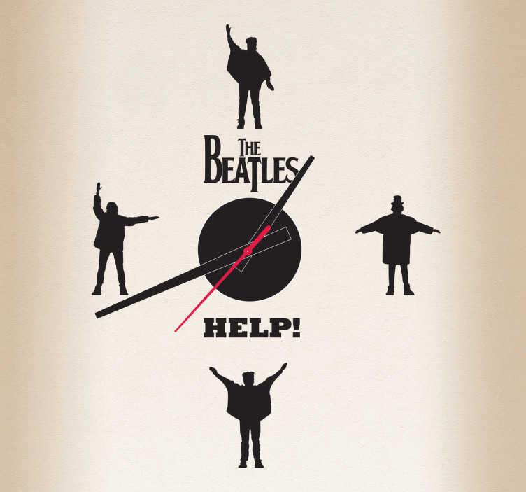 TenVinilo. Vinilo reloj Beatles Help. Si eres fan de los cuatro de Liverpool hazte con este especial vinilo para reloj de pared monocolor. +50 Colores Disponibles.
