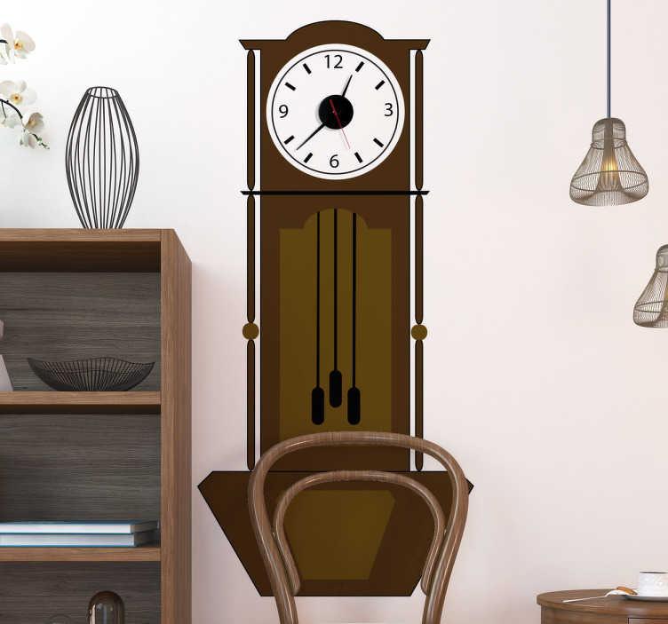 sticker horloge ancienne tenstickers. Black Bedroom Furniture Sets. Home Design Ideas