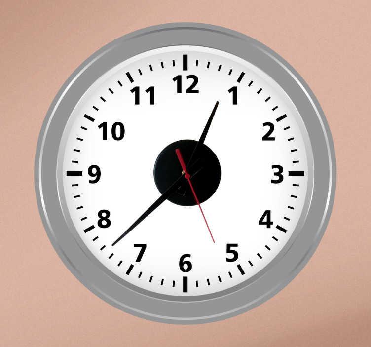 TenStickers. Naklejka zegar salon. Naklejka dekoracyjna z wbudowanym zegarem. Obrazek łączy w sobie nowoczesny wygląd i prostotę.