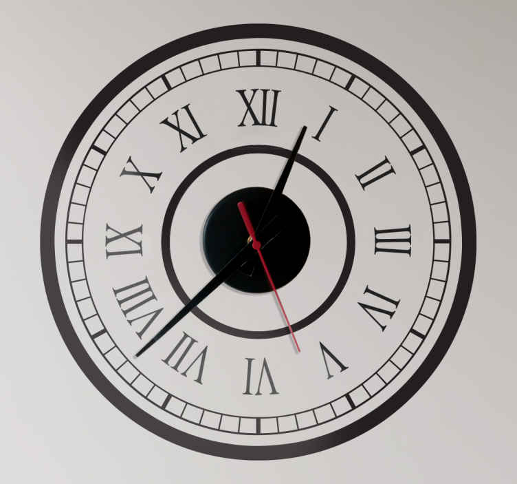 TenStickers. Classic Station Clock Sticker. Wall Clocks - Classic train station clock design with roman numerals. Simple and distinctive, ideal for decorating your home