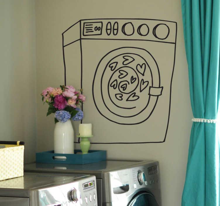 sticker lave linge mod le poisson hublot pictures to pin on pinterest. Black Bedroom Furniture Sets. Home Design Ideas