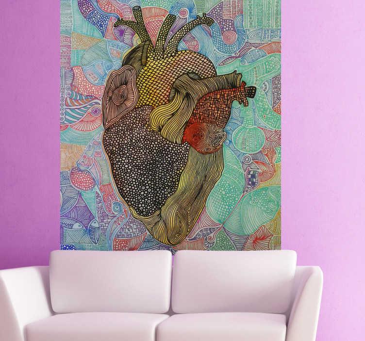 TenStickers. Wall Sticker F*** Boom!. Wall sticker decorativo che raffigura il disegno molto realistico ed originale di un cuore. Disegno realizzato dalla talentuosa Valentina di Blase!