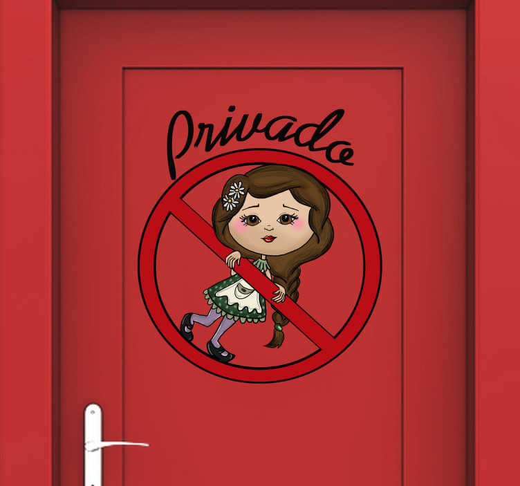 Vinilo infantil ni a privado tenvinilo for Vinilos habitacion infantil nina