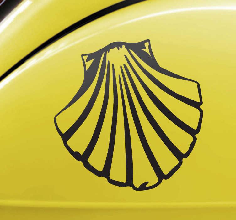 TenStickers. Jakobsmuschel Aufkleber. Mit diesem Aufkleber der Jakobsmuschel können Sie Ihr Auto dekorieren.