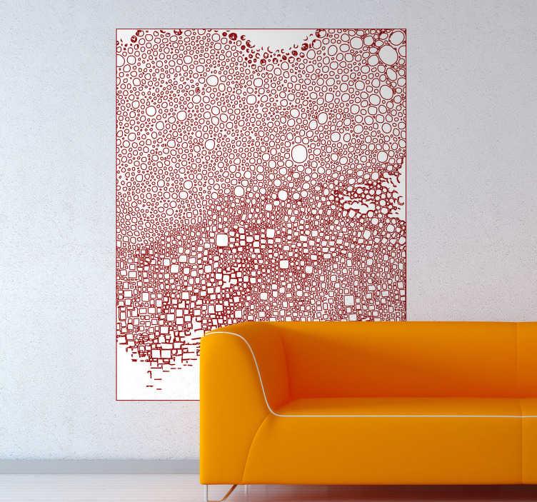 TenStickers. Adesivo decorativo meditation red. Per tutti coloro che vogliono dare un tocco artistico ed originale alla propraia abitazione, questo sticker originale dell'artista Valentina di Blase è perfetto.