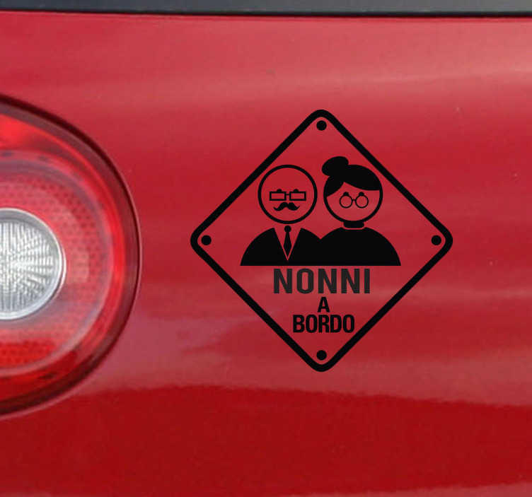 Sticker decorativo nonni a bordo