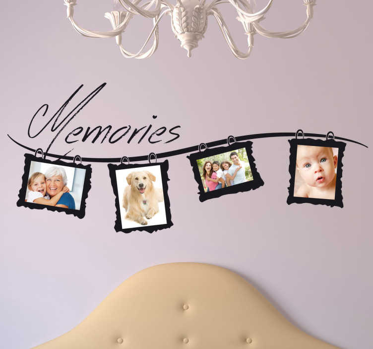 TenStickers. Memories Photo Frame Wall Sticker. Brilliant frame decal to decorate your home and put up your family pictures! Make all those memories memorable with this great monochrome sticker.
