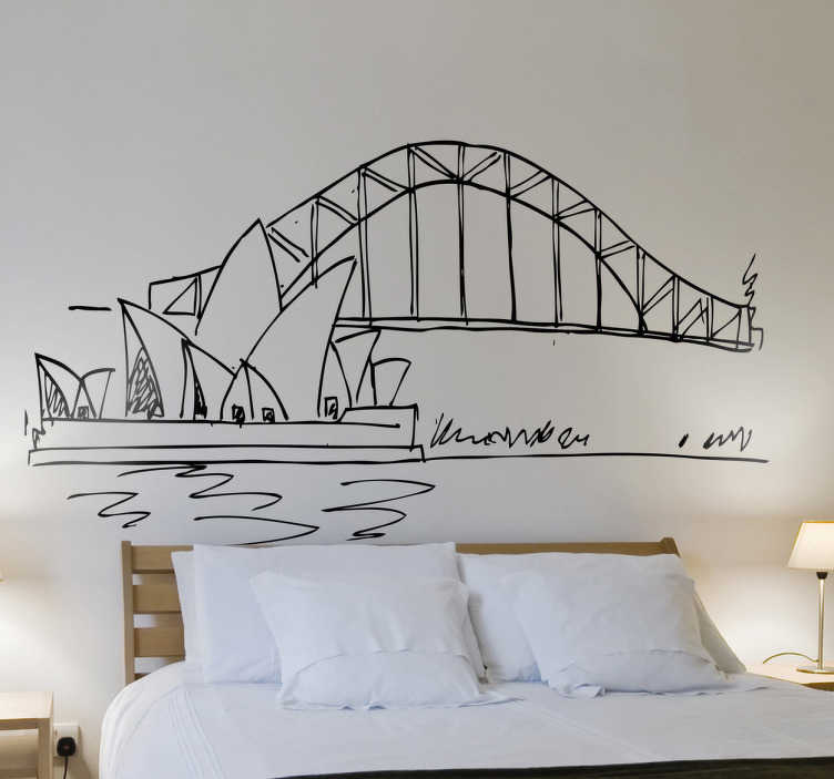 Sydney Opera House Wall Sticker Part 80