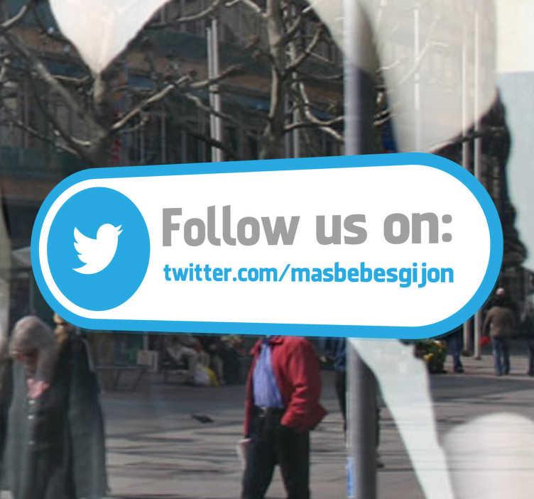 Sticker follow us Twitter