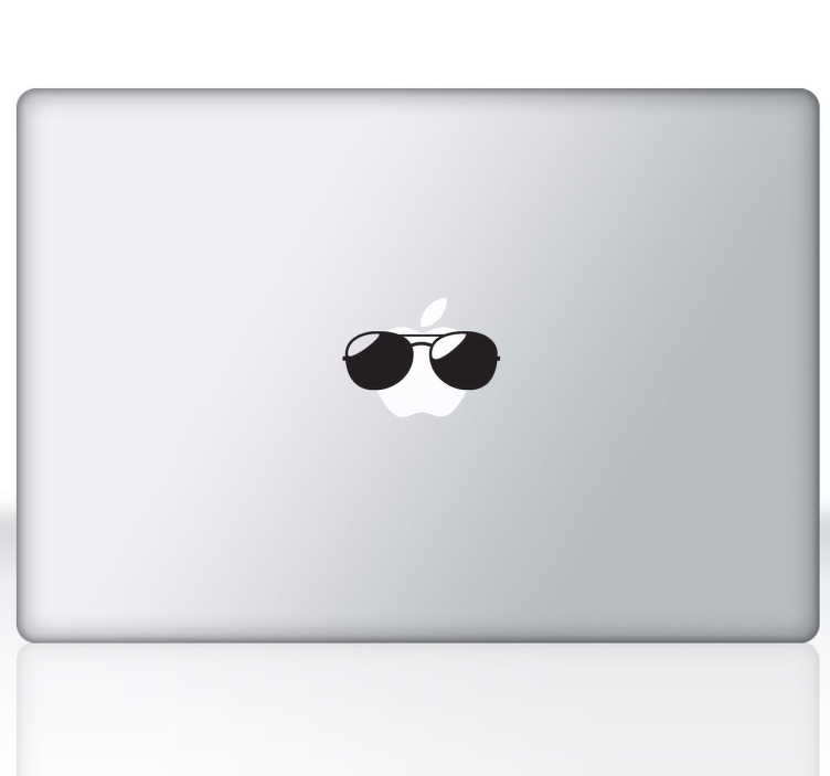 TenStickers. Sunglasses MacBook Sticker. A superb design to give your MacBook a new appearance! This fun decal is part of our collection of MacBook stickers.