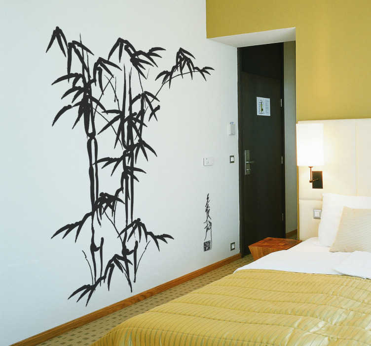 TenStickers. Bamboo Wall Art Decal. A wall sticker illustrating bamboos. A wall decoration inspired by the bamboo forests and perfect for your bedroom to obtain a relaxing atmosphere.