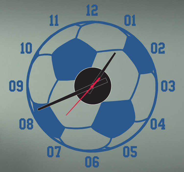 TenStickers. Football Clock Sticker. Wall Clocks - Football design clock sticker. Decorate your childs room with this wall sticker. Perfect for any room in your home