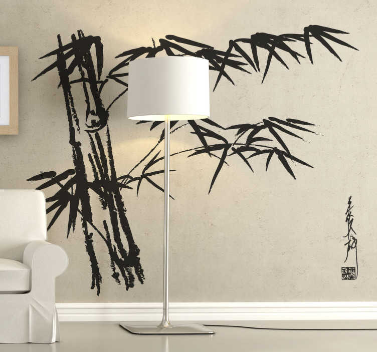 TenStickers. Asian Bamboo Wall Sticker. An exotic bamboo tree decal to give your home an oriental atmosphere and style. If you love nature and love bamboos then this is perfect for you!