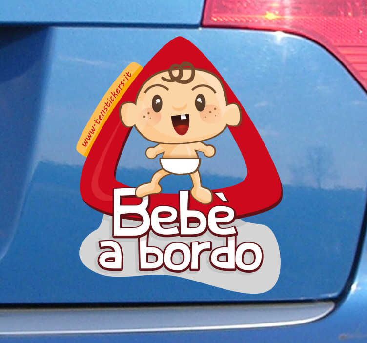 Sticker decorativo bimbo a bordo