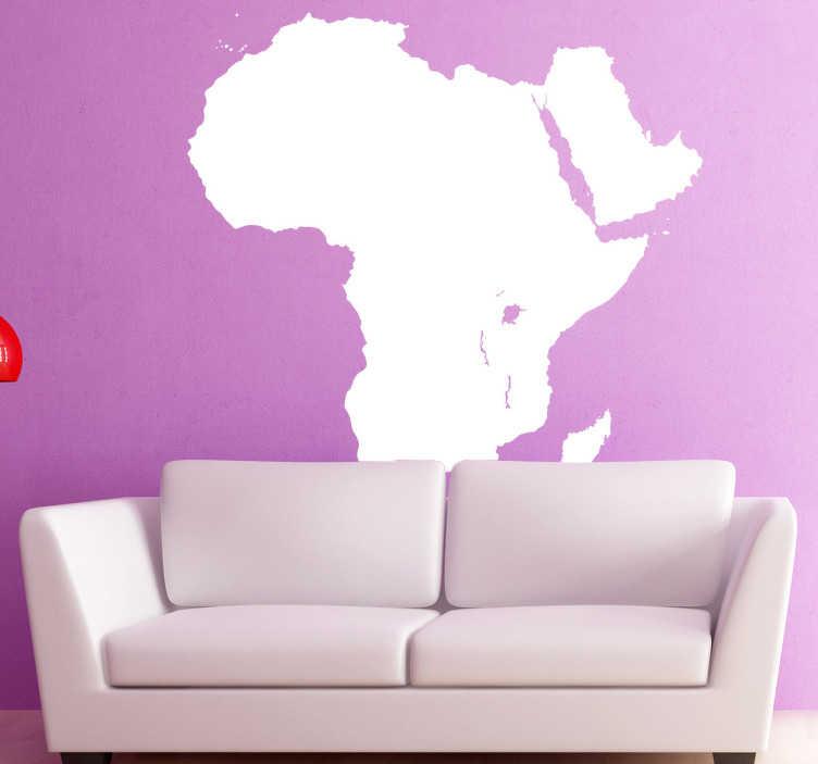 TenStickers. Naklejka kształt mapy Afryki. Naklejka dekoracyjna przedstawiająca mapę kontynentu afrykańskiego. Obrazek dostępny w wielu kolorach i wymiarach.