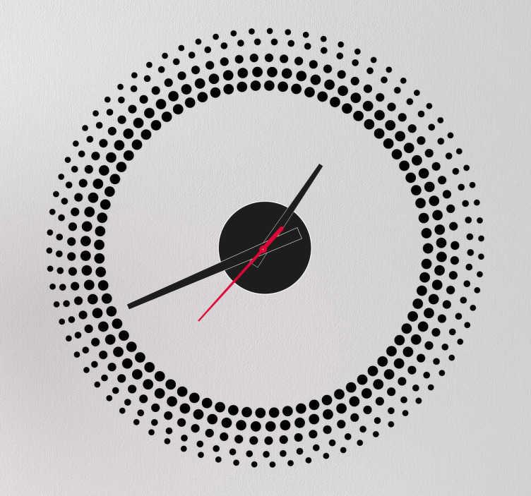 Sticker orologio muro gradazione cerchi