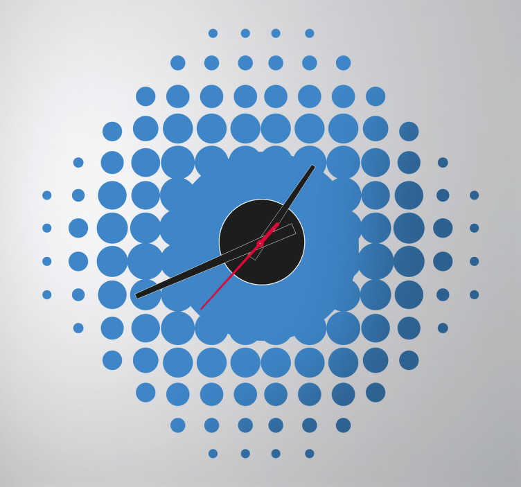 Vinilo reloj pared degradado redondas tenvinilo - Reloj vinilo pared ...