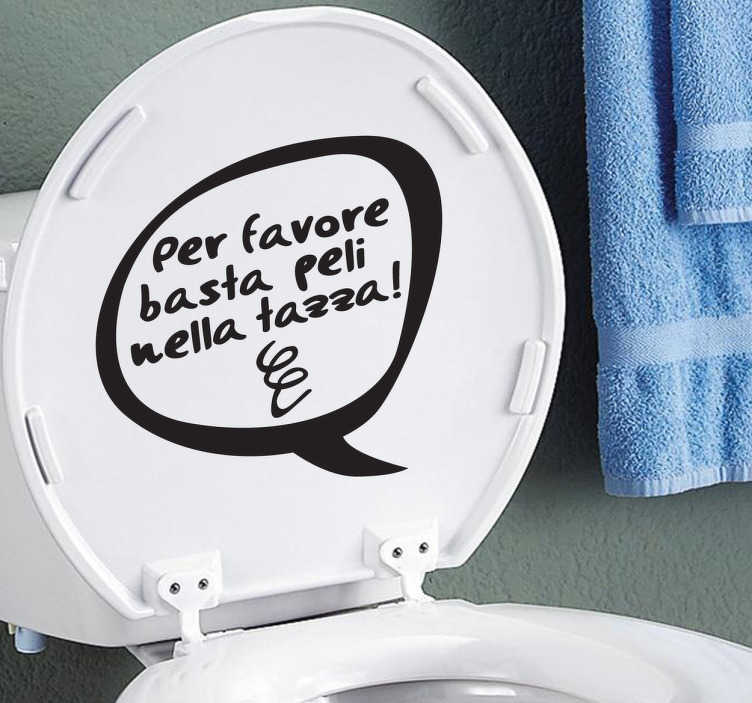 Sticker scritta tazza peli