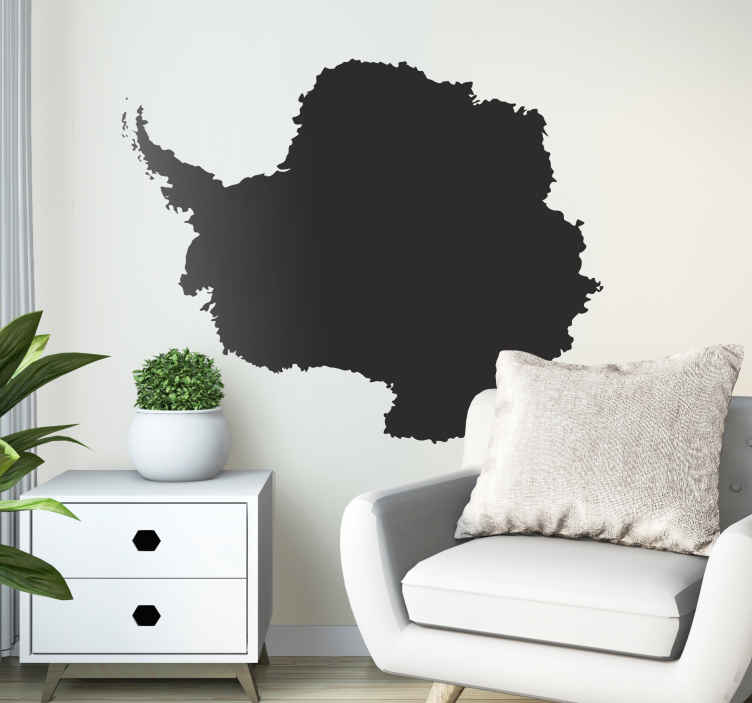 TenStickers. Antarctica Map Silhouette Wall Sticker. Wall Stickers - Silhouette illustration of the distinctive shape of Antarctica. Available in various colours.