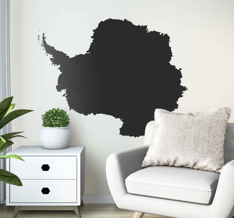 TenStickers. Naklejka kształt mapy Antarktydy. Naklejka dekoracyjna przedstawiająca Antarktydę, kontynent lodu i śniegu. Obrazek dostępny w wielu kolorach i wymiarach.