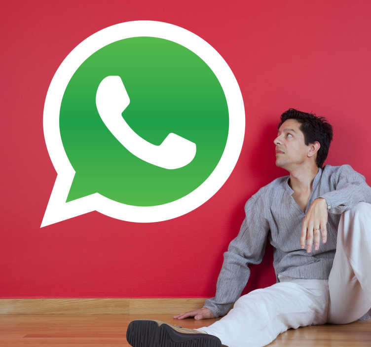 TenStickers. Whats App Logo Sticker. Whatsapp logo sticker, ideal to indicate to your customers that you offer this service if your have your own business.